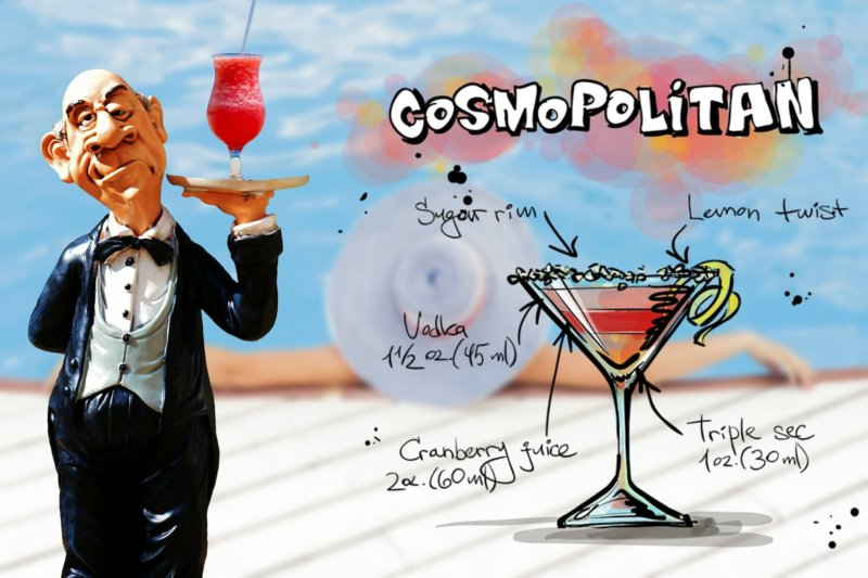 コスモポリタンってどんなカクテル?各バーテンダー組織のレシピを検証!